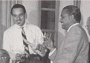 With Johnny Otis