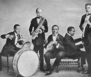 The Red Devils in 1920, with Creighton Thompson on drums