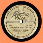 Electro Voice 9048 HUGH BERT ORCH. Sentimental Journey EV 791