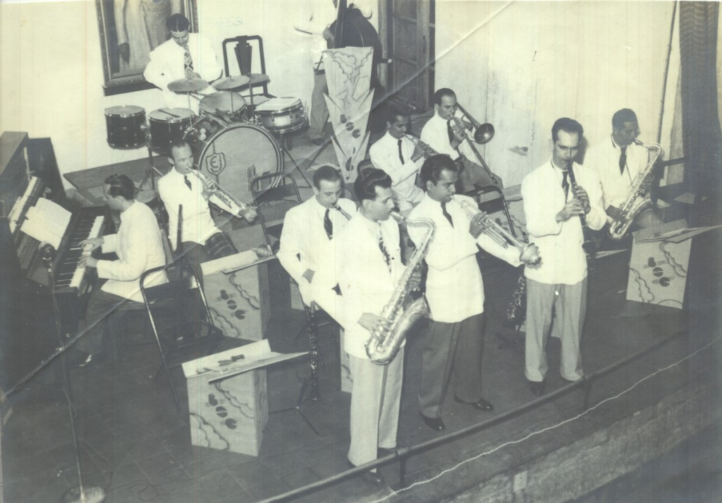 Henry Green, Frank Fernand and Hal Green at the Bombay Swing Club debut concert